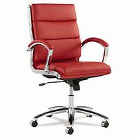 red desk chair Red Leather Computer Office Desk Chair with Padded Arms | eBay