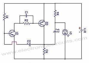 1 5v One Battery Led Light Flasher Circuit Diagram