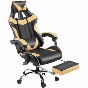 Black, Pc, Gaming, Chair, For, Adults, Large, Size, High, Back, Computer, Desk, Office, Chair, Swivel