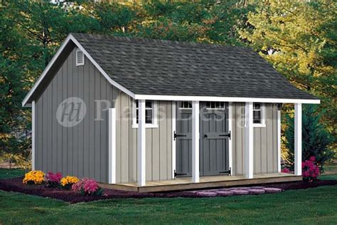 16x20 shed plans with porch 16x20 ft guest house storage shed with porch plans p81620