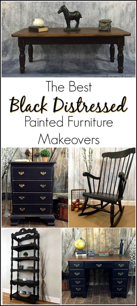 black distressed painted furniture makeovers