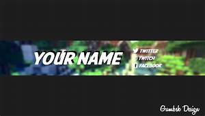Minecraft YouTube Channel Art Template #3 - Free Photoshop ...