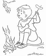 Coloring Pages Camping Fun Spring Preschool Pm Posted sketch template
