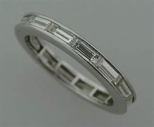 harry winston baguette diamond platinum wedding band ring With harry winston mens wedding rings