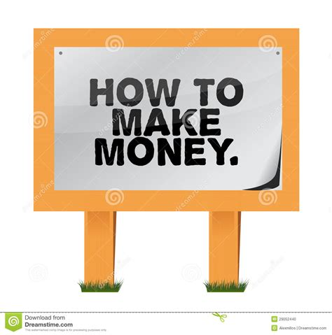 money   wood sign stock photo image