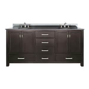 shop avanity modero espresso undermount double sink poplar