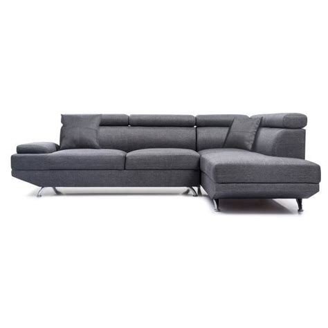 canape d angle cdiscount canape d angle tissu gris achat vente canape d angle