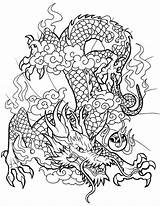 Dragon Coloring Chinese Pages Dragons Printable Hydra Sheet Line Tattoo Drawing Adult Epic Flickr Designs Fantasy Drago Lifeinhamburg Gas Categories sketch template