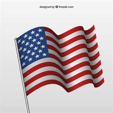 Vector image file of the national flag of the united states of america. Free Vector | Waving american flag