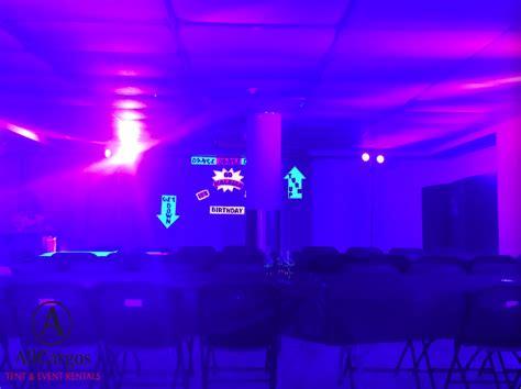 black light glow party allcargos tent event rentals inc glow in the dark uv