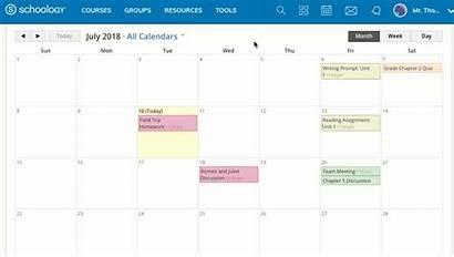 Calendar Schoology Code Support