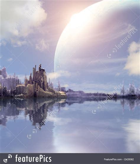 science fiction  fantasy landscape  fantasy planet