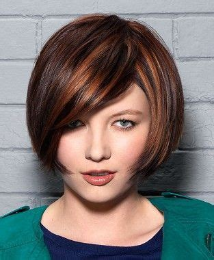 styles for hair medium brown multi tonal bob womens modern 8864