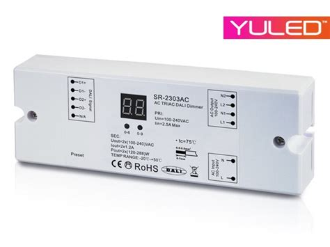 dali dimmer 230v sr 2303ac 230v dali controller 2 kanal dimmerpack 2x1 2a everen led and light solutions