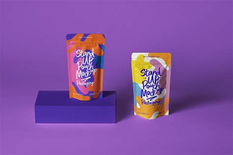 Free mockups and design tools. PSD Stand Up Pouch Packaging Mockup | Free Mockup
