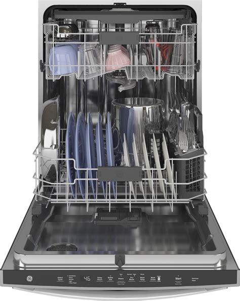 gdtssnss ge  dishwasher  rack  db stainless interior stainless steel