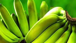 Bunch, Of, Green, Bananas, In, Green, Background, Hd, Banana