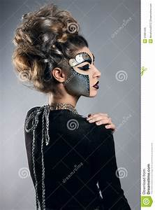 Woman With Makeup Steampunk Stock Photo Image 51081445