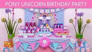 Diy Unicorn Party Decorations - YouTube