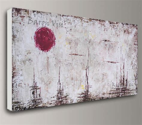 Grosses Bild Auf Leinwand by Brown Abstract Painting Acrylic Painting Painting