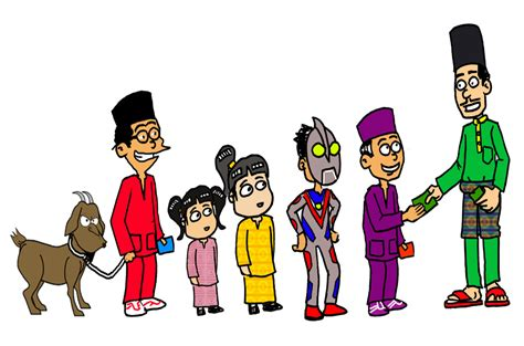 Salam Aidilfitri Kartun Pictures To Pin On Pinterest