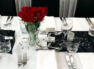 Deko Schwarz Weiß : tischdeko hochzeit schwarz weiss kristallen rote rosen pdv weihnachtsfeier deko ~ Orissabook.com Haus und Dekorationen