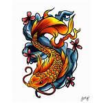 Tattoo Transparent Fish Tattoos Drawings Dragon Koi