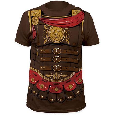 Tshirt Armour Biru new gladiator fighter combat costume crest