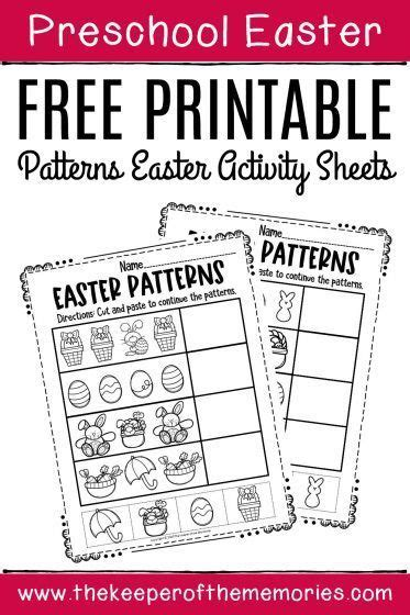 printable patterns easter activity sheets
