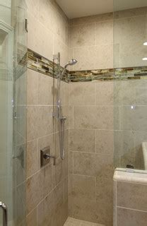 large tile shower  master bath morgan hill ca