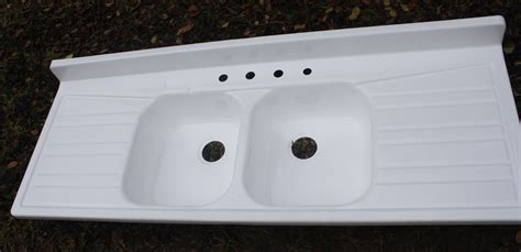 enamel kitchen sink with drainboard large ceramic or enameled sinks with drain board 1950 s