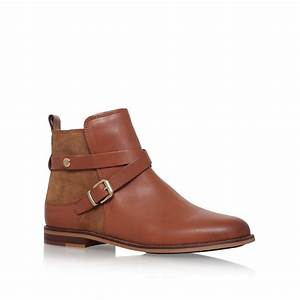 Tommy hilfiger Diana 8c Low Heel Ankle Boots in Brown Lyst