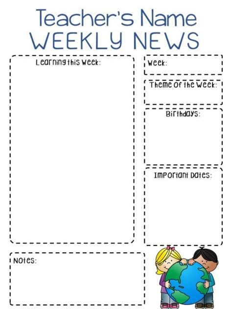 classroom newsletter how to increase parent involvement 780 | Newsletter Editabe Templates Pic e1515794310991