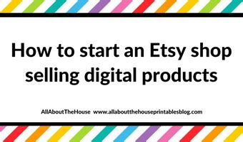 how much to sell a used for how to start an etsy shop selling digital products and