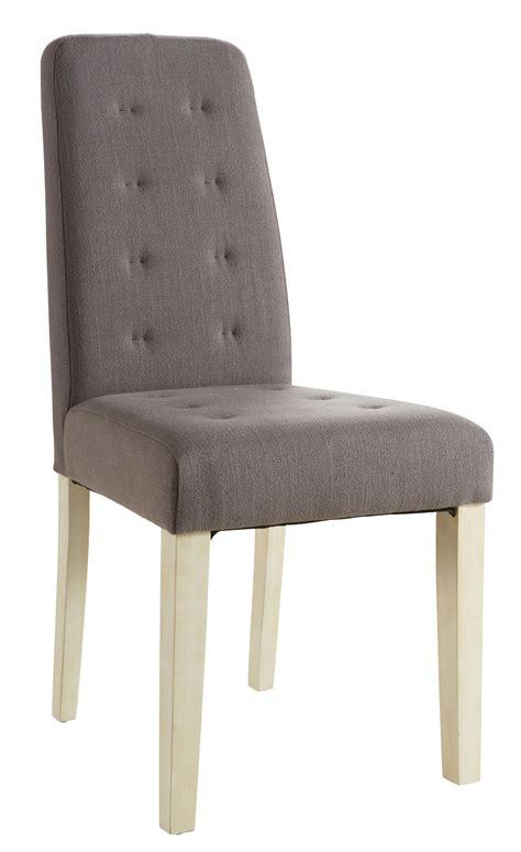 chaise de salle a manger but chaise de salle à manger contemporaine en tissu taupe lot