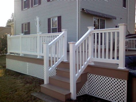 vinyl porch railing durable and affordable vinyl stair railing