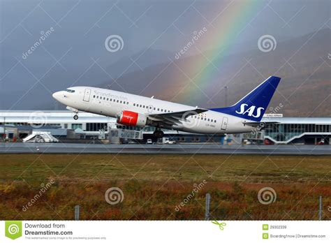 timetable find your flight sun air of scandinavia sas scandinavian airlines boeing 737 600 editorial photo