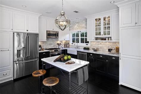 white lower kitchen cabinets l shaped kitchen features white cabinets and black