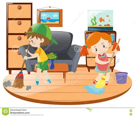Clean The Living Room In by Boy Cleaning Room Clipart 101 Clip
