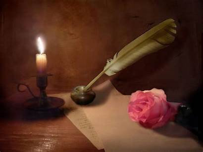 Paper Romantic Candles Roses Candle Pen Pink