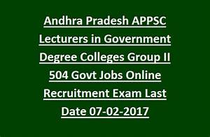 Andhra Pradesh APPSC Lecturers in Government Degree ...