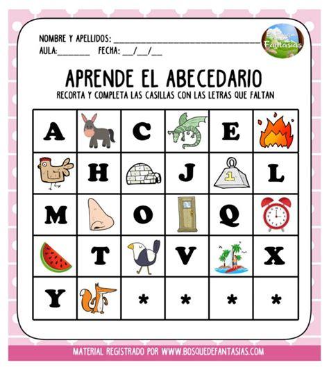 fichas recortables  aprender el abecedario