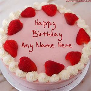 Write Name On Heart Birthday Cake For Lover   wishes ...