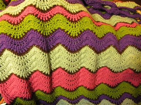 ripple afghan lovely ripple stitch crochet and knitting pinterest