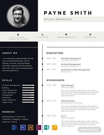 corporate resume template word  psd