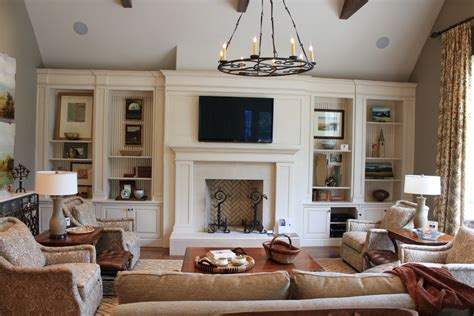 livingroom fireplace fireplace built ins living room traditional with ceiling