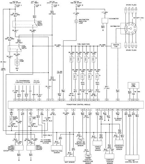 1992 dodge dakota fuel wiring diagram wiring