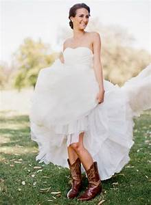 Bridal inspiration country style wedding dresses tulle for Wedding dress with boots