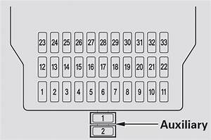 Acura Mdx  2007 - 2008  - Fuse Box Diagram