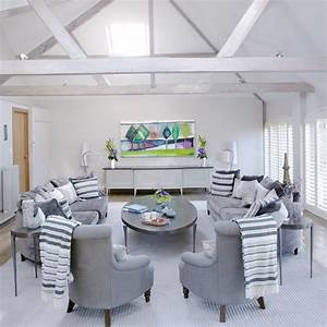 White and grey living room | housetohome.co.uk